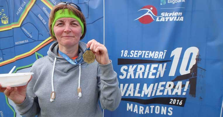 ilona tropa valmieras maratons 2016 valmiera šosejas skriešana
