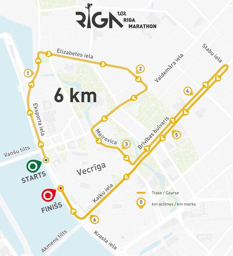 rīgas maratons 2019 karte